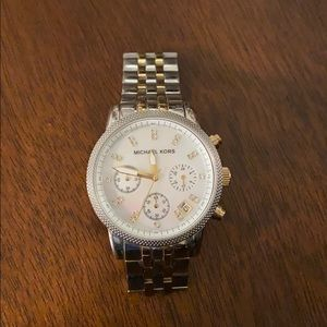 Michael Kors Women's Silver and Gold watch
